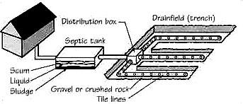 Maryland Septic Drainfield Trench